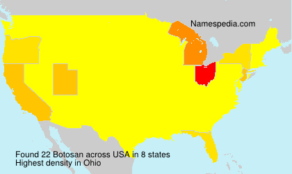 Surname Botosan in USA