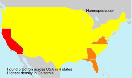 Surname Botron in USA