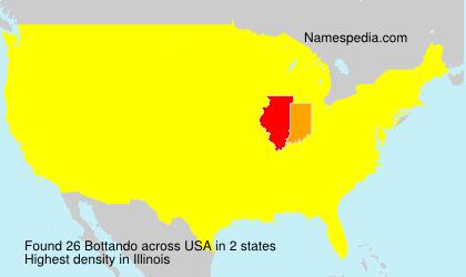 Surname Bottando in USA