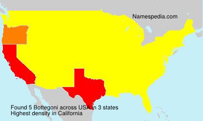 Surname Bottegoni in USA