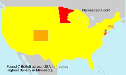 Surname Bottoli in USA