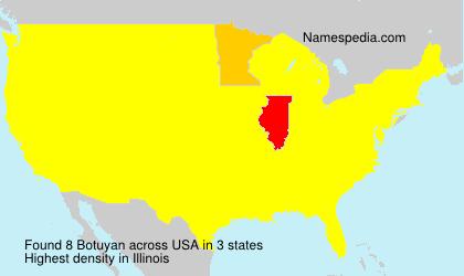 Surname Botuyan in USA