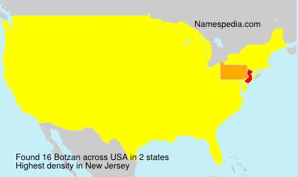 Surname Botzan in USA