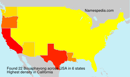Surname Bouaphavong in USA