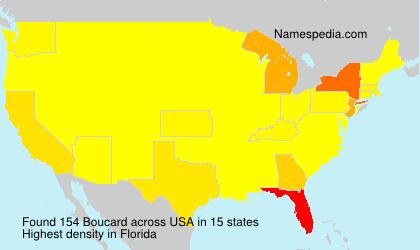 Surname Boucard in USA