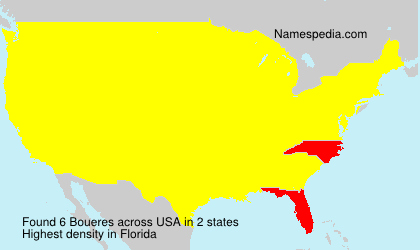 Surname Boueres in USA