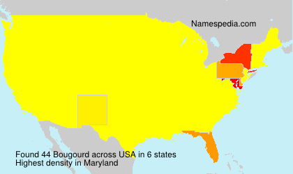 Surname Bougourd in USA