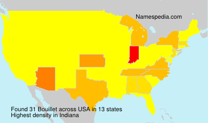 Surname Bouillet in USA