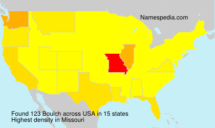 Surname Boulch in USA