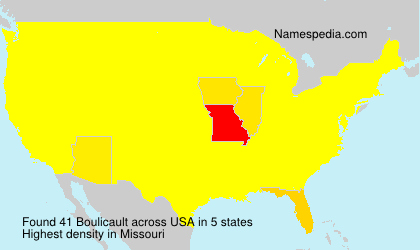 Surname Boulicault in USA