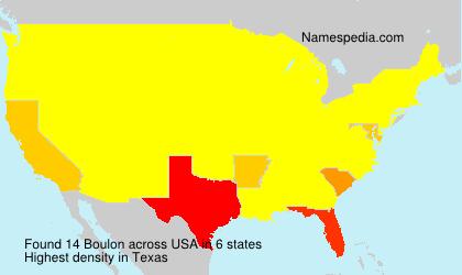 Familiennamen Boulon - USA