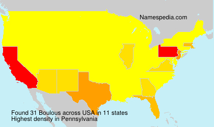 Surname Boulous in USA