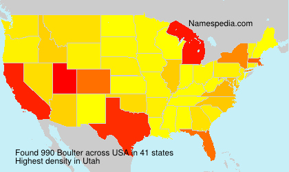 Surname Boulter in USA