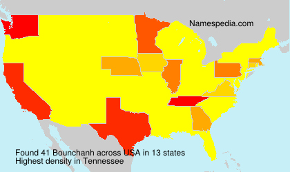 Surname Bounchanh in USA