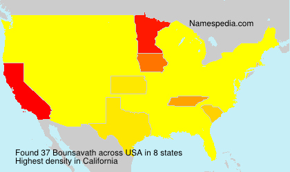 Surname Bounsavath in USA
