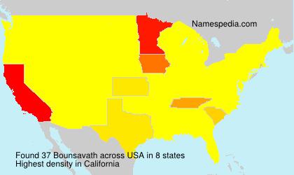 Surname Bounsavath in USA