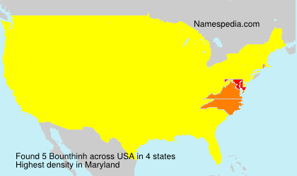 Surname Bounthinh in USA