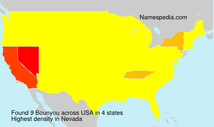 Surname Bounyou in USA