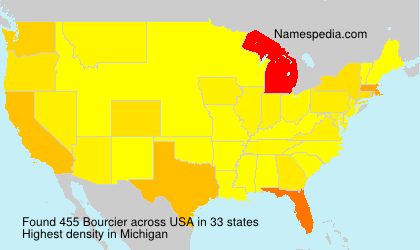 Surname Bourcier in USA