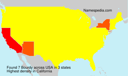 Surname Bourdy in USA