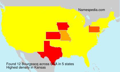 Surname Bourgeacq in USA