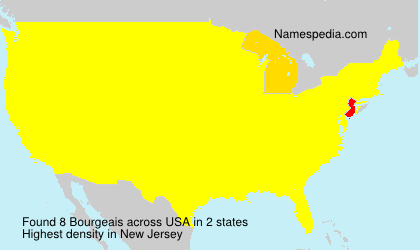 Surname Bourgeais in USA