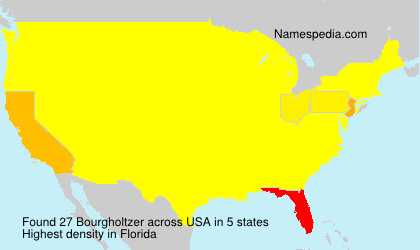 Surname Bourgholtzer in USA