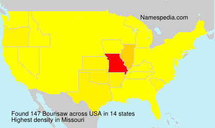 Familiennamen Bourisaw - USA