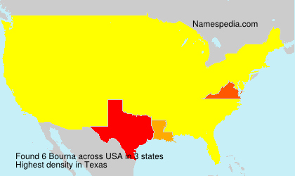 Surname Bourna in USA