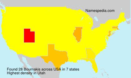 Familiennamen Bournakis - USA