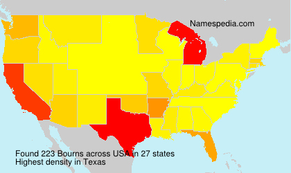 Surname Bourns in USA