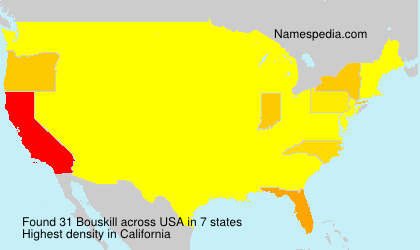Surname Bouskill in USA