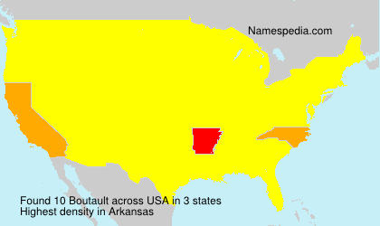 Surname Boutault in USA