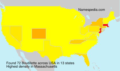 Surname Boutillette in USA