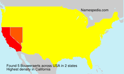 Surname Bouweraerts in USA