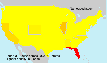 Surname Bouzo in USA