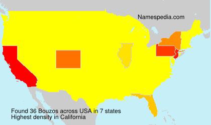 Surname Bouzos in USA