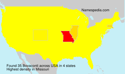 Surname Bovaconti in USA