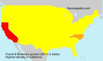 Familiennamen Bowmani - USA