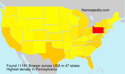 Surname Bowser in USA