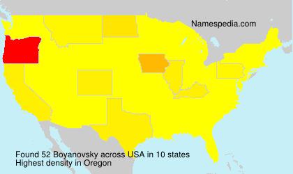 Familiennamen Boyanovsky - USA