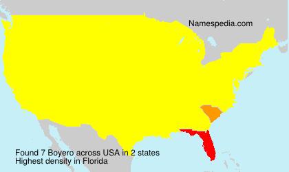 Surname Boyero in USA