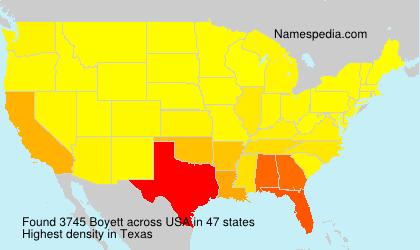 Familiennamen Boyett - USA