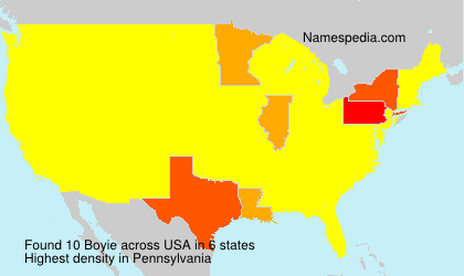 Surname Boyie in USA