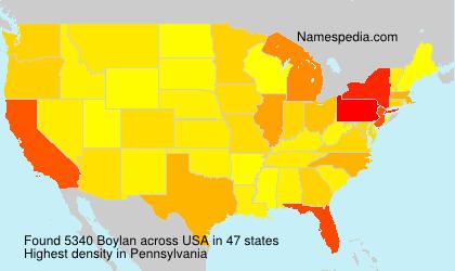 Familiennamen Boylan - USA