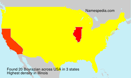 Surname Boyrazian in USA