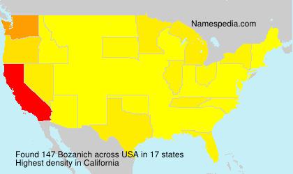 Surname Bozanich in USA