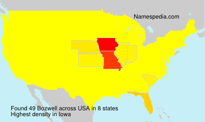 Surname Bozwell in USA