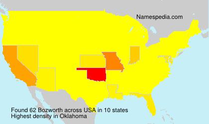 Surname Bozworth in USA