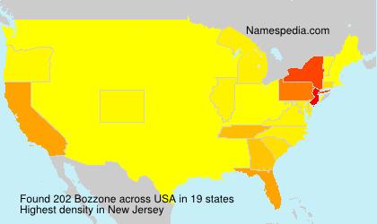 Familiennamen Bozzone - USA